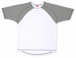 Code Zero Short Sleeve Shirt - White w/Grey Shoulders