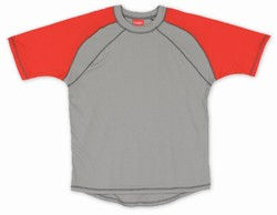 Code Zero Short Sleeve Shirt - Grey w/Red Shoulders