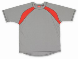 Code Zero Short Sleeve Shirt - Grey w/Red Stripes