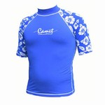 Short Sleeve Rashguard Hawaiian Blue
